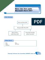 TIK Kelas 8. Bab 1. Menu Dan Ikon Pada Microsoft Word 2007