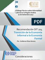 La Recomendación 204 OIT Transición de la Economía Informal a la Economía Formal