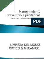 Mantenimiento Preventivo a Periféricos Mouse
