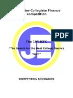 19th ICFC Rules & Mechanics-Elimination Round