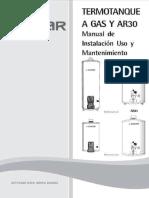 Manual Termotanques Saiar - Linea Gas 1 1