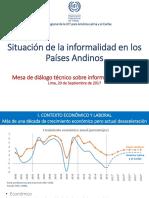 Situación de la Informalidad en los Países Andinos