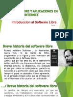 Software Libre y Aplicaciones en Internet