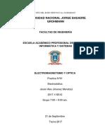informe II de laboratorio Electromagnetismo y óptica