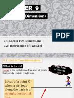 9 Loci in Two Dimensions