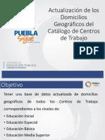 Actualización de Domicilios Geográficos -2
