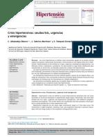 Crisis Hipertensivas Seudocrisis Urgencias y Emergencias