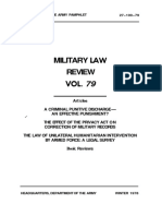 Military Law Review Vol 79