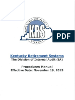 KRS Internal Audit Procedures Manual
