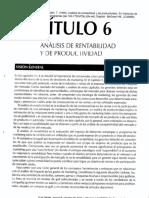Análisis de Rentabilidad y de Productividad. Cap 6. Gerencia de Marketing