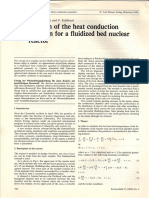 66) Solution of the Heat Conduction Equation for a Fluilized Bed Nuclear Reactor