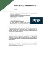Especificaciones Tecnicas Para Carretera - Angasmarca