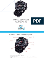 Manual Reloj Espia Hd II