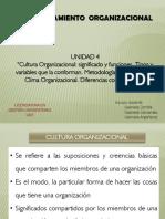 Unidad 4 Cultura y Clima