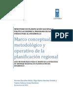 MIDEPLAN PNUD 2011. Marco conceptual y metodologico planificación regional