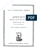 Mario Castelnuovo Tedesco - Appunti - Cuaderno Secondo Parte II
