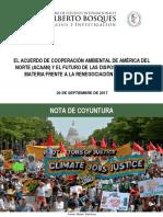 20-09-17 El acuerdo de cooperación ambiental de américa del norte y el futuro de las disposiciones en la materia frente a la renegociación del TLCAN