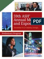 59th Preliminary Program