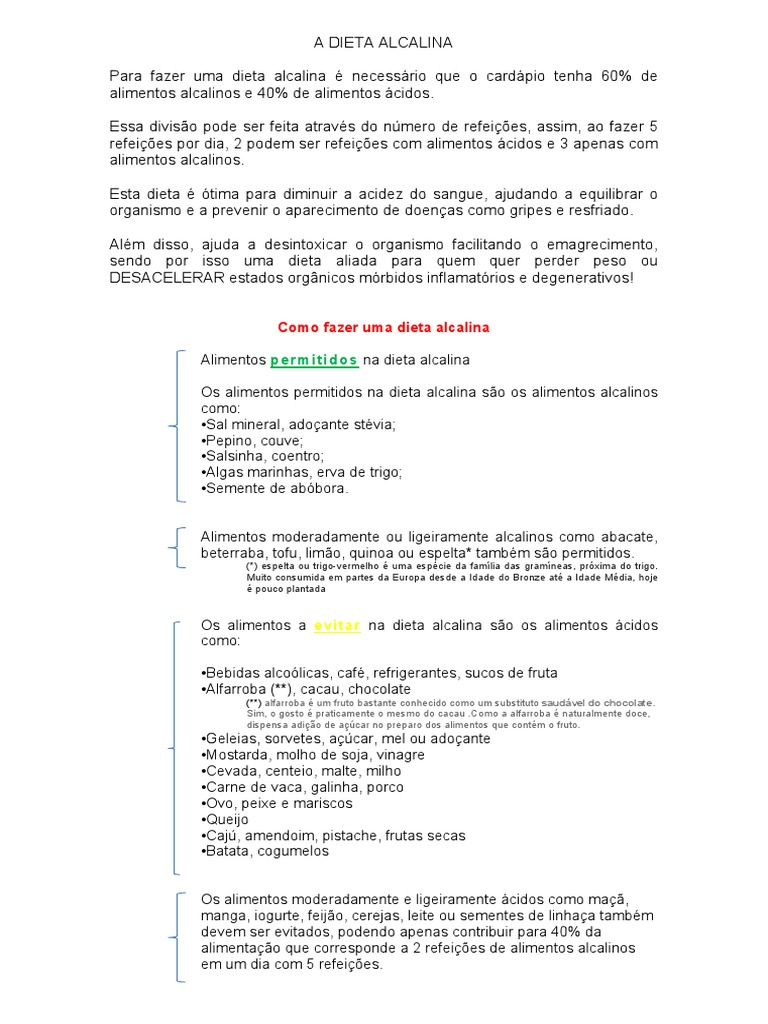 dieta alcalina pdf portugues