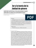 Judith Butler y la Teoria de la Performatividad de género.pdf
