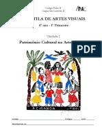 6 Ano UnidadeI Patrimonio Cultural Arte Popular