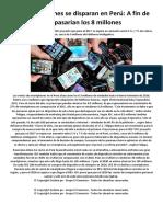 Los Smartphones Se Disparan en Perú