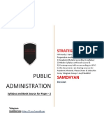 Strategy for Public Administration Paper 2