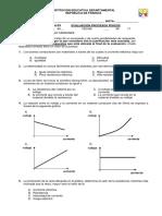 Evaluacion ley de ohm grado 6