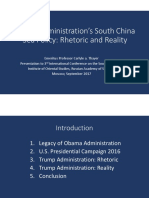 Thayer, Trump Administration's South China Sea Policy