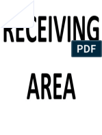 Receiving Area