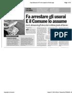 Avvenire - Fa arrestare gli usurai. E il Comune di Locri lo assume, di Paolo M. Alfieri, 17/08/2010