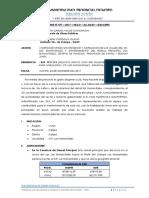 Informe de mantenimiento de Calles Cp. Los Manantiales