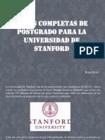 Becas Completas de Postgrado Para La Universidad de Stanford