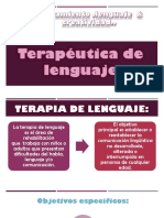 Terapéutica de lenguaje