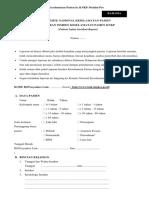 Formulir Laporan Insiden Keselamatan Pasien Ke KNKP Melalui Pos