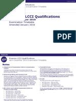 LCCI Examiniation Timetable January 2016(1)