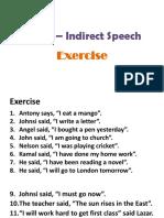 Direct-Indirect Speech Exercise