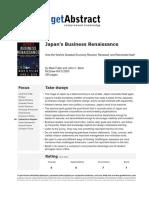 Japan's Business Renaissance (5811)