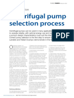 Centrifugal Pump Selection Process