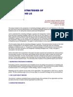 Marketing Strategies of Dawlence and LG