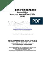 Pembahasan Soal CAT CPNS Strategiluluscpns.com