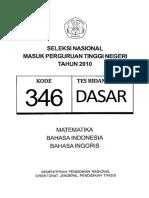 Naskah Soal SNMPTN 2010 Tes Bidang Studi Dasar Kode Soal 346 by [Pak-Anang.blogspot.com]