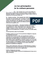 Cuales Son Las Principales Fuentes de La Cultura Peruana