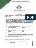 ZEC VR9 Affidavit Form