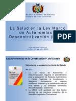 La Salud en la Ley Marco de Autonomías y Descentralización (LMAD)