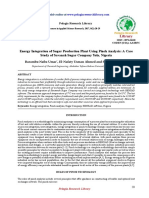 Energy Integration of Sugar Production Plant Using Pinch Analysis a Case Study of Savanah Sugar Company Yola Nigeria