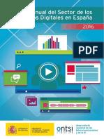 Informe Sector de Los Contenidos Digitales 2016