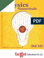 Std 12 Physics Numericals