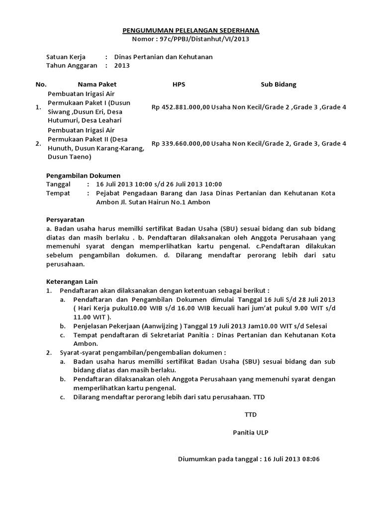Surat Tugas Dan Pengumuman 01