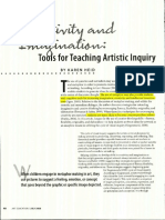 Tools for Teaching Artistic Inquiry